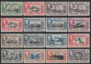 FALKLAND ISLANDS : 1938 KGVI Pictorial set, SPECIMEN. MNH **. VERY RARE GENUINE!