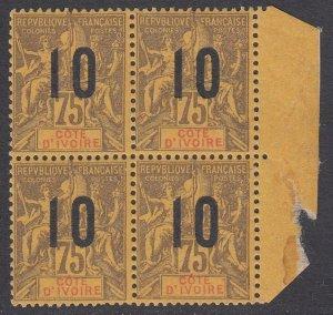 Ivory Coast 41 MNH block of 4 CV $60.00