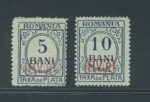 Romania 3NJ1-2  F+  MNH disturbed gum