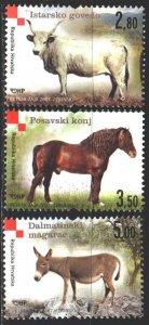 Croatia. 2007. 802-4. Pets, horse. MNH.