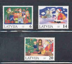 Latvia Sc 433-5 1996  Christmas stamp set mint NH