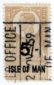 (I.B) George VI Revenue : Isle of Man 5/-