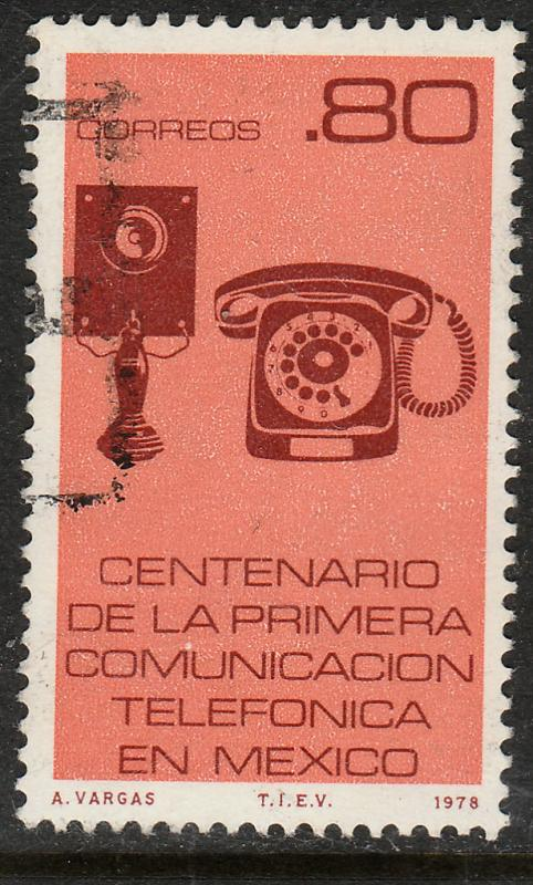 MEXICO 1160, Centenary of First Telephone service Used (1215)
