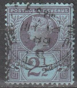 Great Britain  #114  F-VF  Used CV  $3.50  (A8350)