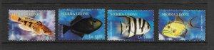 FISH - SIERRA LEONE #2706-9  MNH