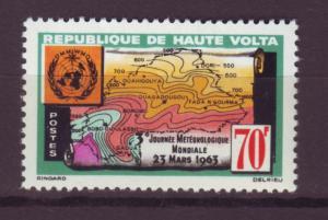 J13574 JLstamps 1963 burkina faso set of 1 mnh #107 weather map