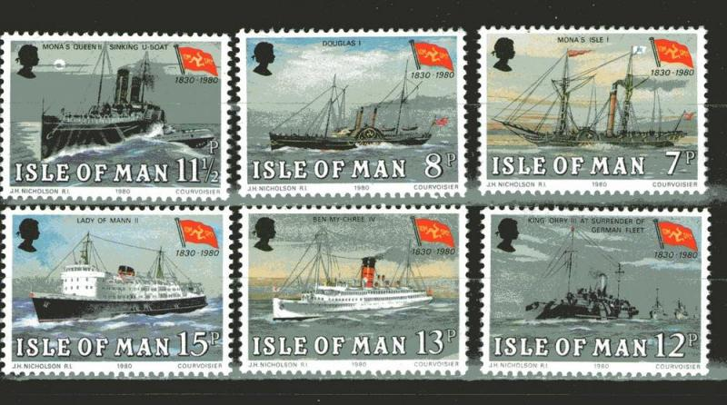 Isle of Man 168-173 MNH