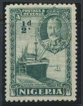 Nigeria  SG 34  SC# 38 MH 1936 issue Apapa Wharf please see scan