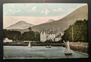 1907 Leenane Hotel Leenane Co Galway Dublin Ireland Real Picture Postcard Cover