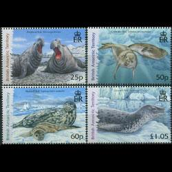BR.ANTARCTIC TERR. 2006 - Scott# 374-7 Seals Set of 4 NH