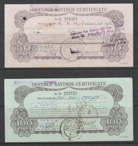 Bangladesh Defence Savings Certificates, 50r,100r, 1000r, 5000r, denominations