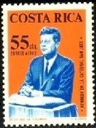 President John F. Kennedy Speaking, Costa Rica SC#C418 MNH