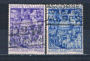 Italy 535-36 Used set Cathedrals 1950 (MV0257)