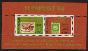 Suriname 'Fepapost 94' European Stamp Exhibition The Hague MS SG#MS1609