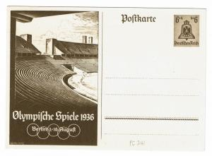 Germany 1936 6 + 4pf Olympics Postal Stationary - Lot 100817