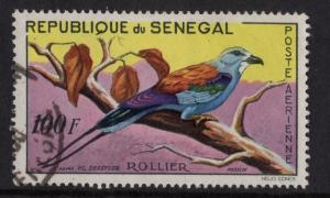 Senegal   #C27 used  1960   AIR  Birds  100fr  Abyssinian roller