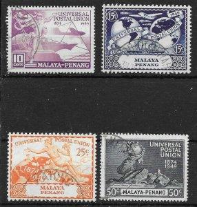 MALAYA PENANG SG23/6 1949 U.P.U. SET USED