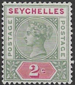 Seychelles   1a  1890   2c  fine mint  - no gum