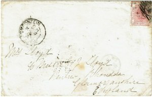 Orange Free State 1882 Bloemfontein NOV 30 cancel on 6d on cover to England