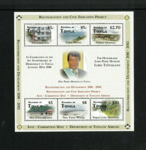 Wholesale Lot Tonga #1177 Mini Sheet of 6 Perf. Cat/ 270.00 (9 x 30.00)