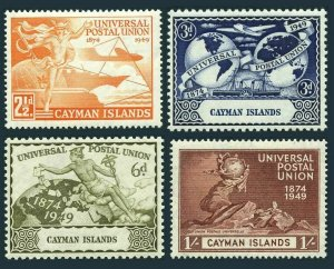 Cayman 118-121,hinged.Michel 119-122. UPU-75,1949.Mercury,Plane,Ship,Hemisphere.