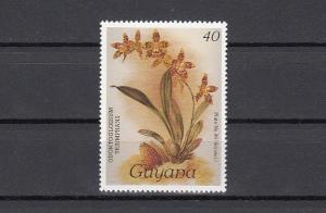 Guyana, Scott cat. 1145. Orchid 40c value.
