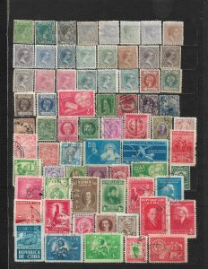 COLLECTION LOT OF 70 CUBA 1878+ STAMPS ALL CONDITION
