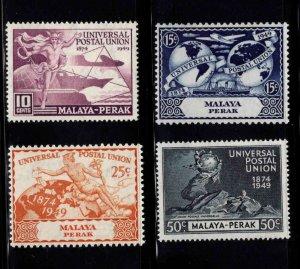 MALAYA Perak Scott 101-104 MH* UPU stamp set