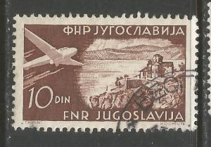 YUGOSLAVIA C38 VFU AIRPLANE 462D-4