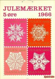 Denmark.1 Post Office,Display,Advertising Sign. Ice Flower. Christmas Seal 1966