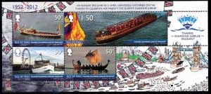 Isle of Man --2012- Royalty Thames Diamond Jubilee Pageant MNH  Sheet  # 1505