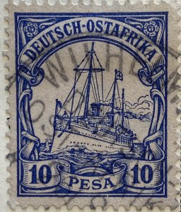 AlexStamps GERMAN EAST AFRICA #14 XF Used