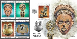 Z08 IMPERF ANG190203ab Angola 2019 Art MNH ** Postfrisch