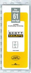 Prinz Scott Stamp Mount 61/215 BLACK Background Pack of 15