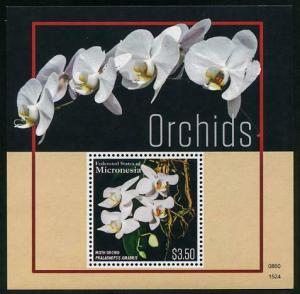 HERRICKSTAMP NEW ISSUES MICRONESIA Sc.# 1186 Orchids Souvenir Sheet