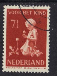 Netherlands  1940  used child welfare 7 1/2 ct   #