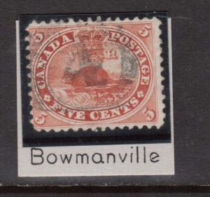 Canada #15 Used With 4 Ring 4 Cancel