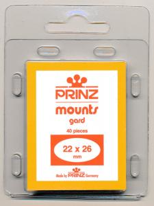Prinz Scott Stamp Mounts Size 22/26 BLACK Background Pack of 40