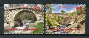 Macedonia 2018 MNH Bridges Europa Bridge 2v Set Storks Birds Architecture Stamps