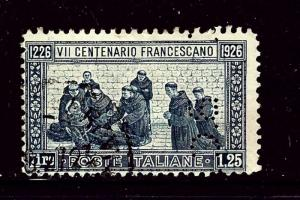 Italy 182 Used 1926 issue Perfin BC