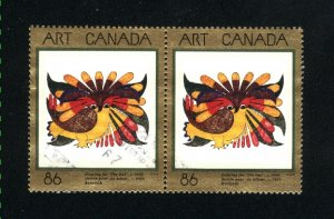 Canada #1466    pair    used VF 1993  PD