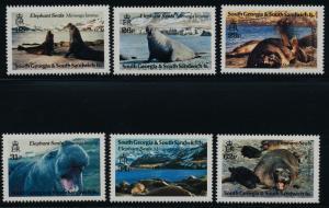 South Georgia 151-6 MNH Seals, Marine Life