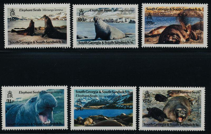South Georgia 151-6 MNH Seals, Marine Life
