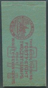US Scott #BK82 Mint, NH, FVF