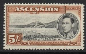 ASCENSION SG46 1938 5/= BLACK & YELLOW-BROWN p13½ MTD MINT