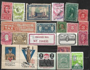 COLLECTION LOT OF 22 UNITED STATES BOB & CINDERELLAS 1898+ STAMPS