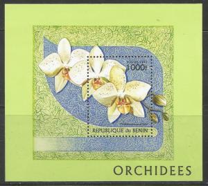 BENIN 979 MNH FLOWERS JANET KUHN, SOUVENIR SHEET 1997