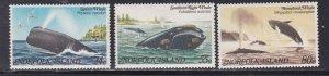 Norfolk Island # 290-292, Whales, NH, 1/2 Cat.