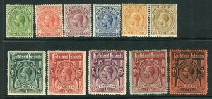 FALKLAND ISLANDS-1912-20  A lightly mounted mint set to £1  Sg 60-69 Inc 67b