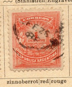 Argentina 1884 Early Issue Fine Used 1c. NW-11803
